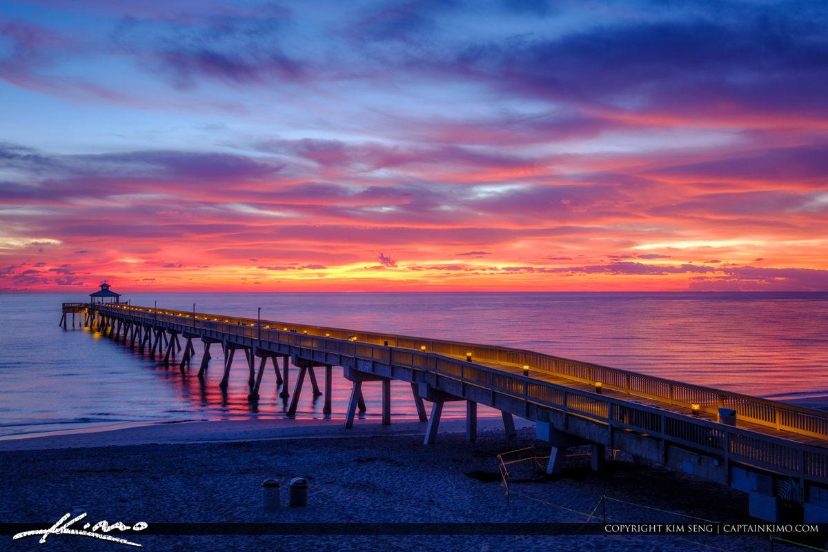 Deerfield beach international fishing pier amazing sunrise for Deerfield beach fishing pier
