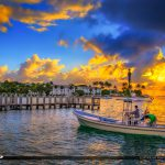 Fishing Boat at Hillsboro Inlet Lighthouse Pompano Beach