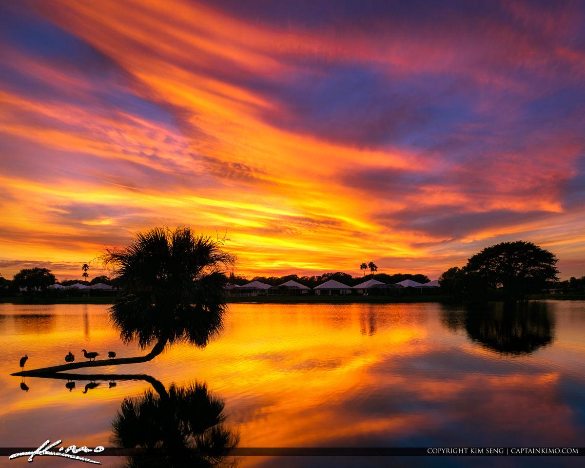 Lake Catherine Sunset Killer Sky Colors Square