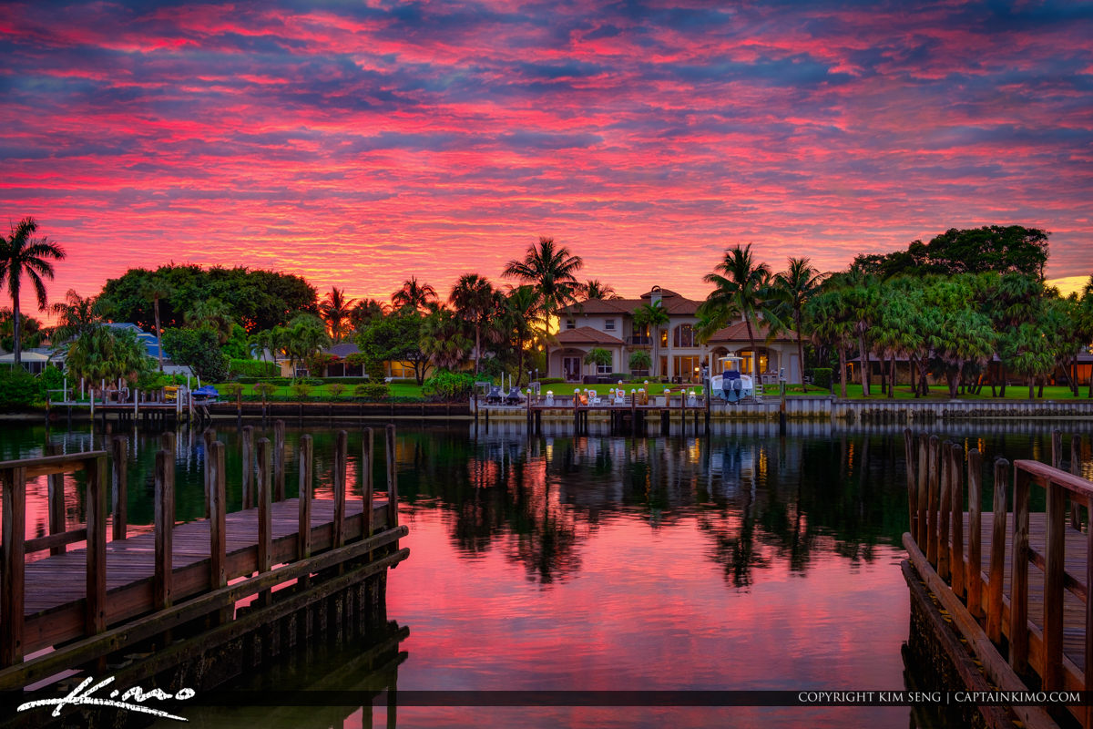 Sunset Waterway Juno Park with Waterfront Property South