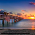 Dania Beach Fishing Pier Sunrise Over Broward County Florida