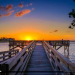 Bathtub Reef Beach Fishing Pier at Bessie Cove Stuart Florida Su