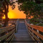 Sunset at the Okeechobee Waterway Bathtub Beach Stuart Florida