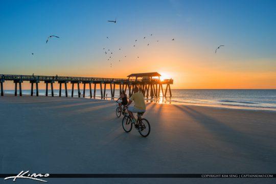 Tybee Beach Pier and Pavilion Bike on Beach