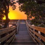 Bathtub Beach Fishing Pier at Sunset