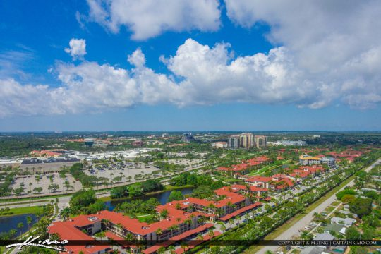 Palm Beach Gardens Aerial Of The Gardens Mall And The Landmark Royal Stock Photo