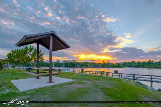 St Lucie Lock and Dam Picnic Area at St Lucie River