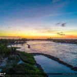 Jupiter Inlet Park Sunset Waterway Aerial