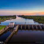 St Lucie Lock and Dam Aerial from the Dam