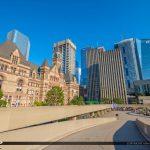 Toronto Canada Ontario Old City from New City Hall