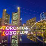 Nathan Phillips Square Toronto Canada Ontario Toronto PanAm Sign