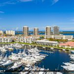 Aerial from North Palm Beach Marina Condo Florida