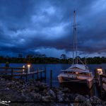 Stuart Florida Storm St Lucie River Loack and Dam Sailboat Docke