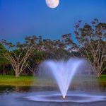 Moon rising Over PGA National Park Palm Beach Gardens
