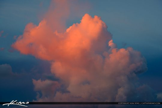 Colored Clouds UpHigh Over South Florida
