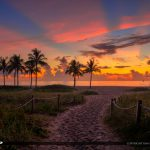 Beach Entrance Singer Island Florida Sunrise