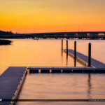 1000 North Floating Dock at Sunset Jupiter Florida
