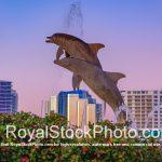 Sarasota Bayfront Bayfront Park Dolphin Waterfountain