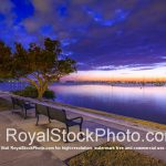 Sarasota Bayfront Bench for Watching the Sunset