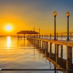 Fiery Sunset Lake Jackson Fishing Pier Sebring Florida