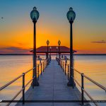 Sunset Glow Lake Jackson Fishing Pier Sebring Florida
