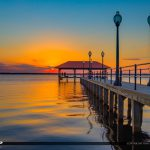 Calm Waters at Lake Jackson Fishing Pier Sebring Florida