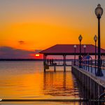 Golden Sun at Lake Jackson Fishing Pier Sebring Florida