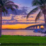 Vero Beach Sunset Over the Waterway Coconut Tree