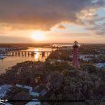 Jupiter Aerial Sunset Florida