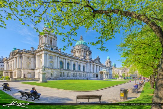 Belfast Northern Ireland at Belfast City Hall Donegall Square