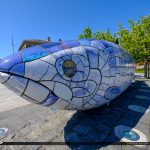 Big Blue Fish Upclosee Belfast Northern Ireland