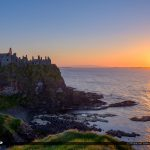 Dunluce Castle Northern Ireland Sunset Ocean View