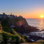 Dunluce Castle Northern Ireland Cliff Sunset