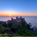 Dunluce Castle Northern Ireland Sunset Stair