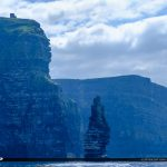 Cliffs of Moher County Clare Ireland Tower of Obriens from Ferry