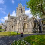 Christ Church Cathedral Dublin Republic of Ireland Vertical View