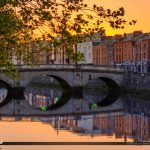 Cobble Stone Bridge River Liffey Republic of Ireland Dublin