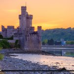 Blackrock Castle Cork Ireland Sunset Warm Golden Glow