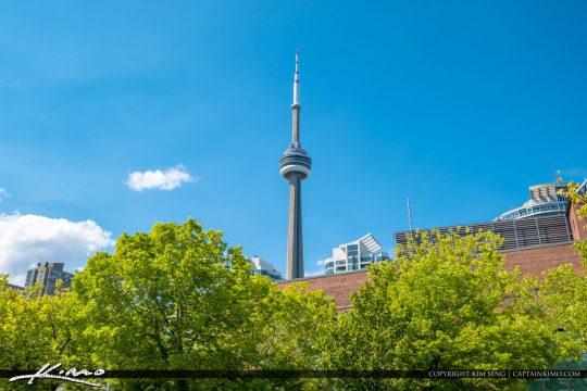 Waterfront Toronto Ontario Canada CN Tower Green Trees
