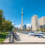 CN Tower Rental Bikes Waterfront Toronto Ontario Canada