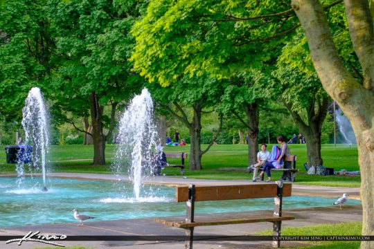 Bench at Waterfountain Centre Island Toronto Ontario Canada