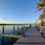 Boat Dock Early Morning Gilberts Resort Key Largo Florida Keys