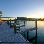 Boat Dock Sunrise Gilberts Resort Key Largo Florida Keys