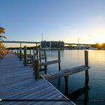 Boat Dock Sunrise Gilberts Resort Key Largo Florida Keys