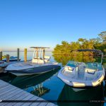 Boat at Dock Gilberts Resort Key Largo Florida Keys