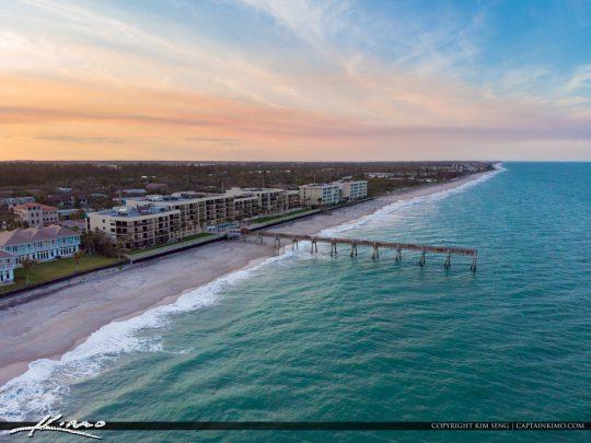 Areial at the Pier Vero Beach Florida