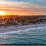 Beach Front Aerial Sunset Jaycee Park Vero Beach Florida