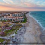 Beach Aerial Sunset Jaycee Park Vero Beach Florida