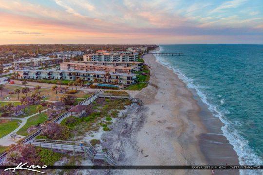 Beach Aerial Sunset Jaycee Park Vero Beach Florida