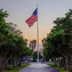 Veterans Memorial Park Vero Beach Florida America Flag